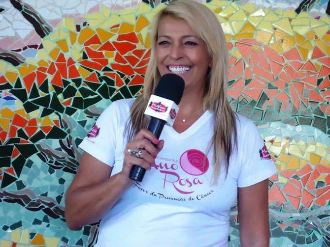 """""""Entusiasmo, força positiva que contagia"""" com a apresentadora Kátia Leopoldi."""