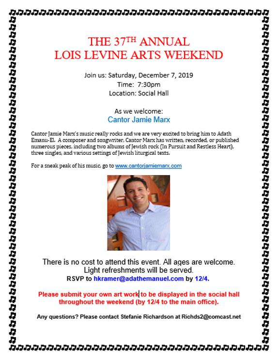 Lois Levine Arts Weekend Brochure 2019.P