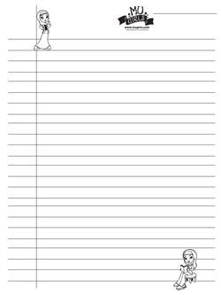 MU Girls Note Paper