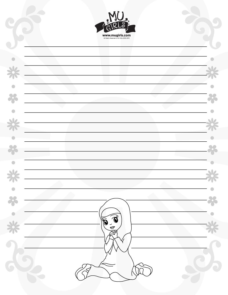MU Girls Note Paper