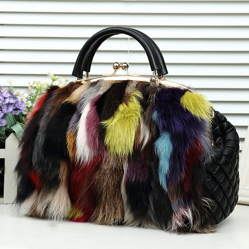 Verge Multi Fur Handbag
