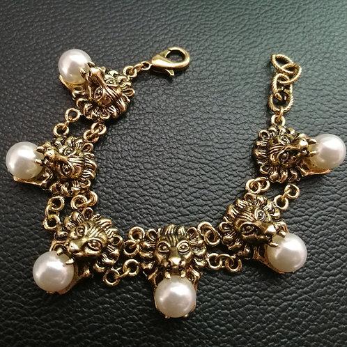 Vintage Gold Pearl Bracelet