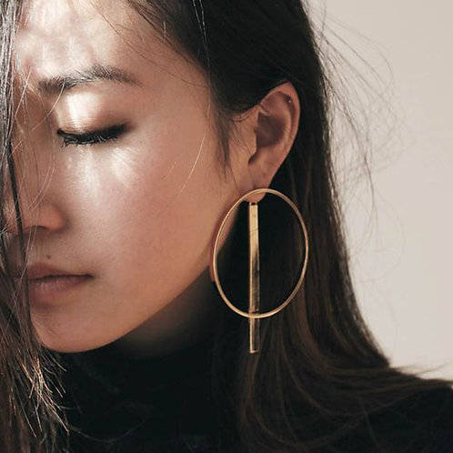 Verge Infinitity Circle Earring