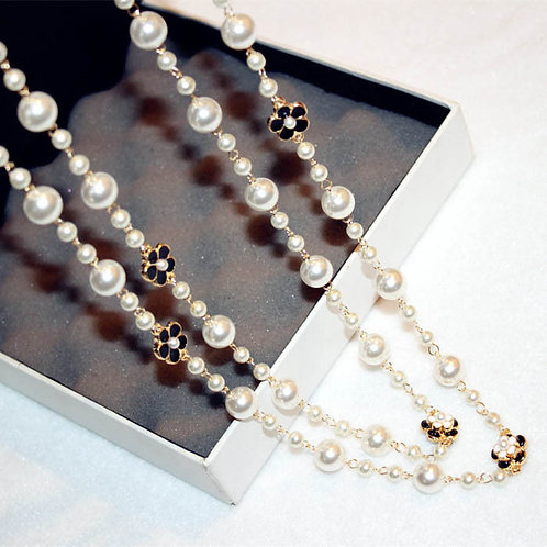 Pearl Camellia Flower Necklace