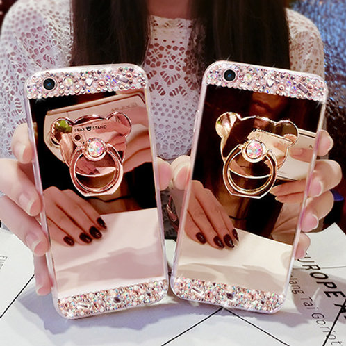 Crystal Mirror Stand Phone Case