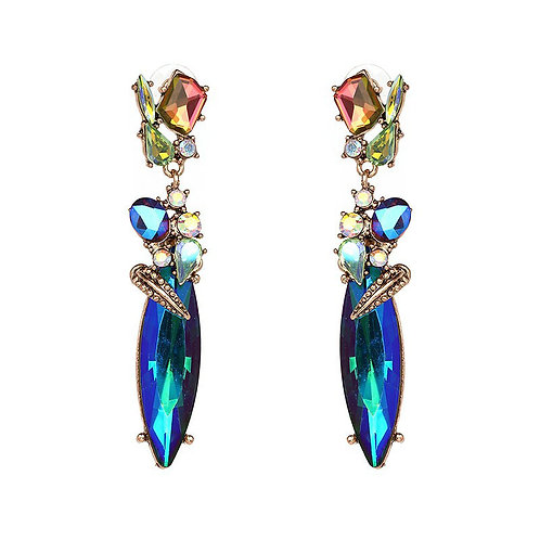 Hot Gal Drop Earring Blue