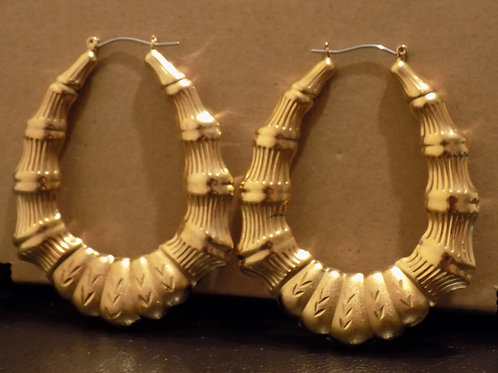 24K Door Knocker Bamboo Earring - Arrow