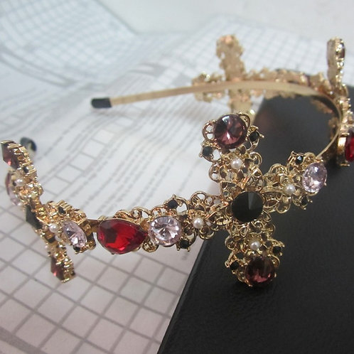 Embellished Crown Headband
