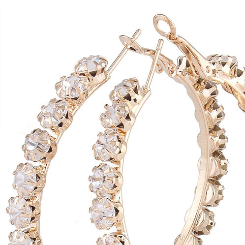 Crystal Claw Studded Hoop