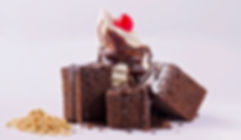 Le légendaire carré au chocolat, avec des brownies maison!