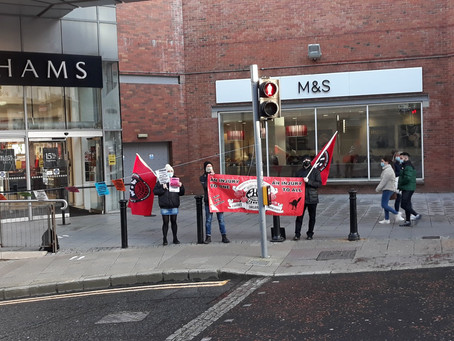 Derry IWW Solidarity With Former Debenhams Workers Boycott Campaign