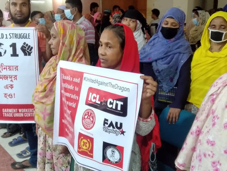 International Message of Solidarity from GWTUC Garment Workers