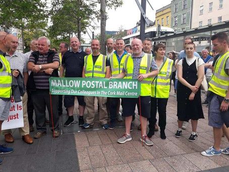 Solidarity with Cork Mail Centre Workers