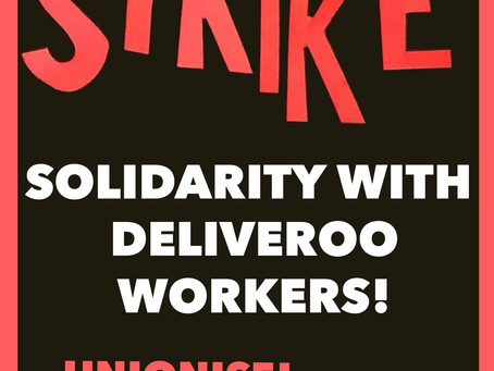 Solidarity with Deliveroo Strike Action
