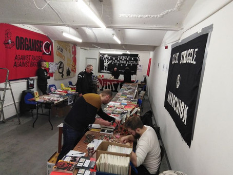 Wobblies at the Belfast Anarchist Bookfair