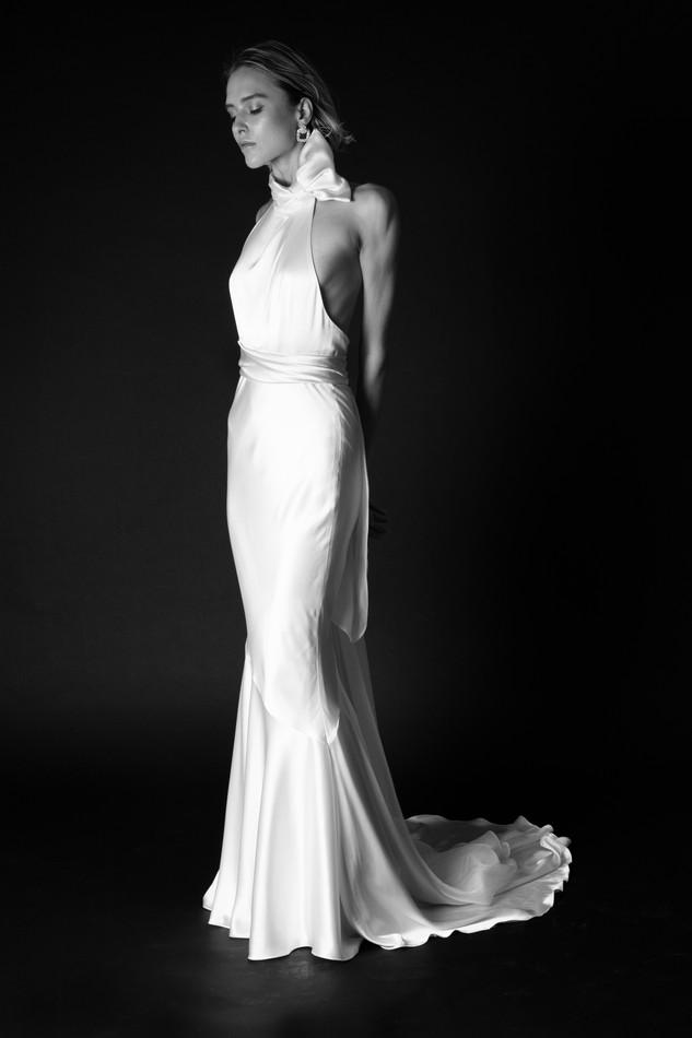 Christina Devine bridal_Celine gown_BW_f