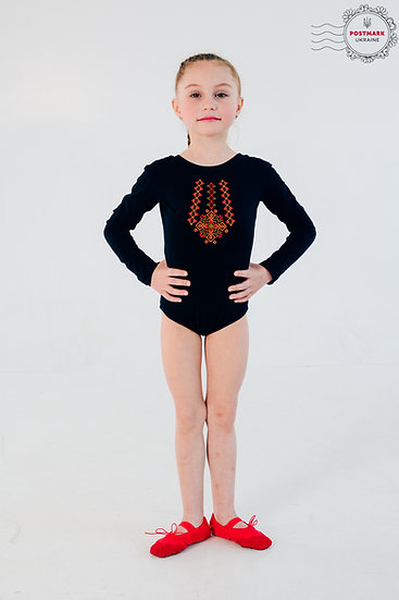 Hutsul Long Sleeve Bodysuit (black)