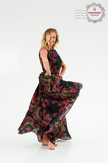 Platok Sleeveless Full-length Dress