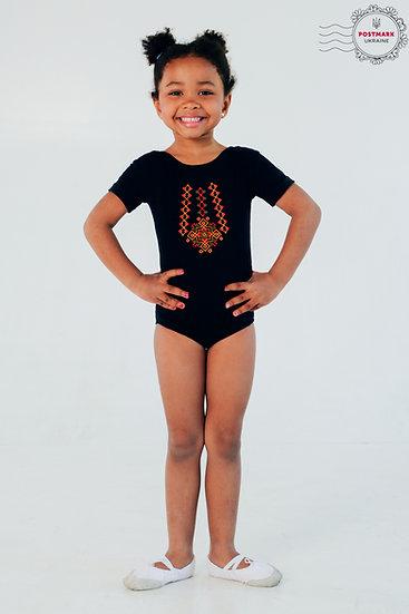 Hutsul Short Sleeve Bodysuit (black)