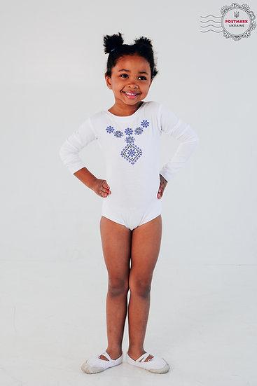 Poltavska Long Sleeve Bodysuit (white)