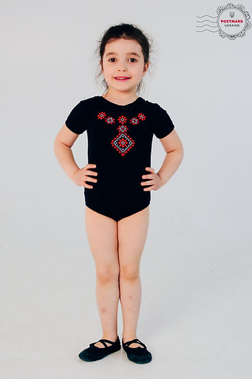 Poltavska Short Sleeve Bodysuit (black)