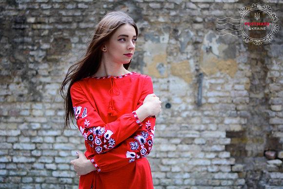 Maple Leaf Vyshyvka Dress