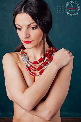 Ukrainian coral necklace
