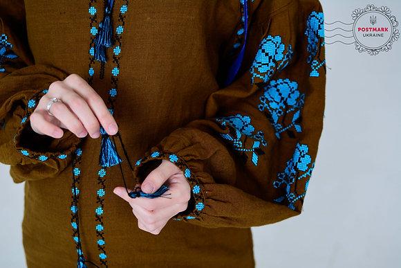Dyka Troyanda Turquoise on Olive