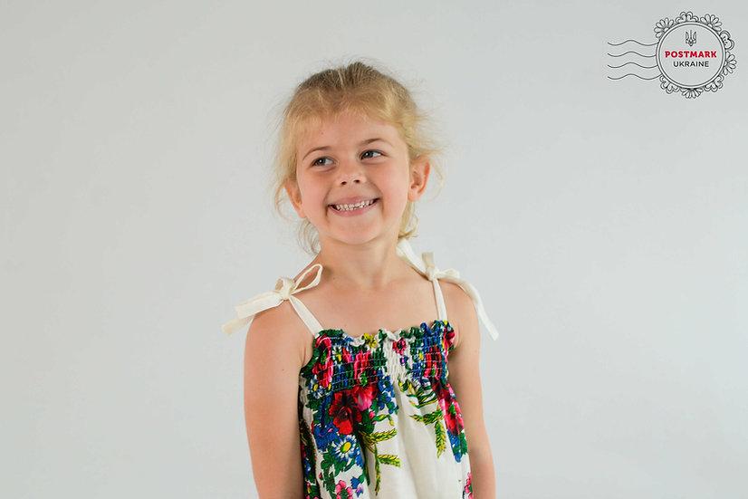 Khustyna Shoulder-tie Summer Dress (under 12)