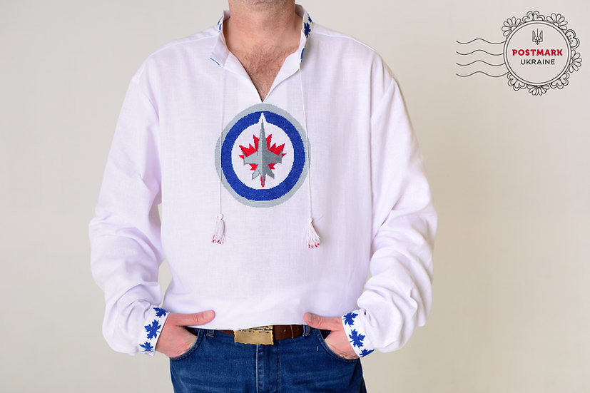 The Jets Shirt for Him (hand embroidered)