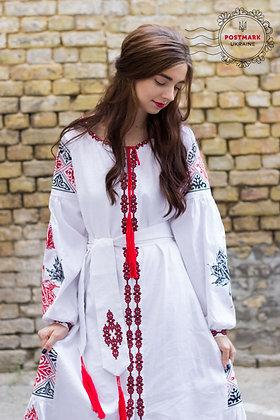 Exclusive Maple Leaf Vyshyvanka Dress