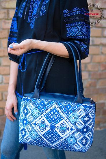 Ukr-element Ladies Handbag (blue/white)