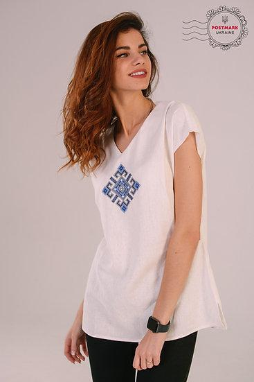 Ivory Linen Short Sleeve