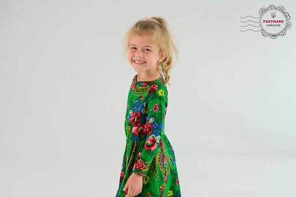 Khustyna Full-length Long Sleeve Dress
