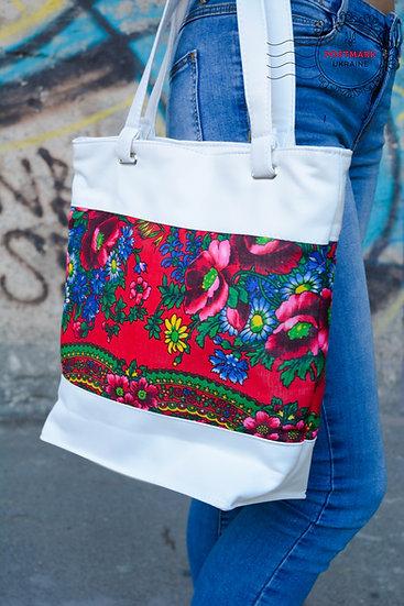 Platok Handbag w Faux Leather