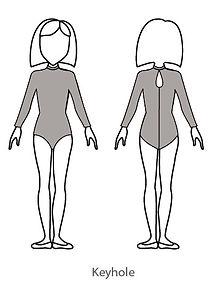 long sleeve keyhole bodysuit