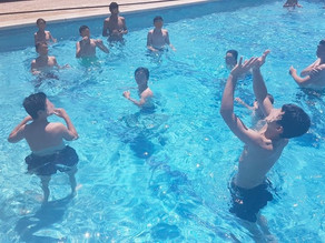 Water volleyball September last day