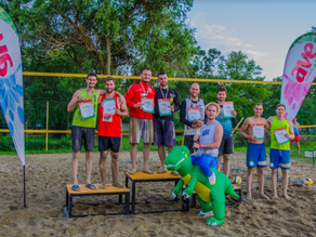 Laurean Andrei Crisan, winner of a beach volleyball tournament in Hungary