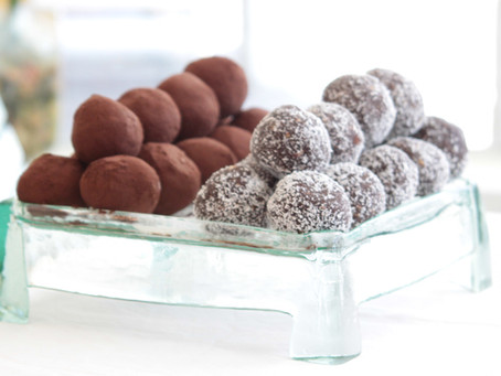 Get some zesty nutty & healthy energy into you with these Cocoa Coconutty Orange Almond Balls