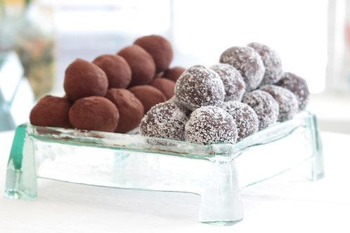 chocolate truffles Cococnuts