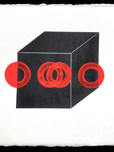 Florescent Three Spot: Puzzle Cube