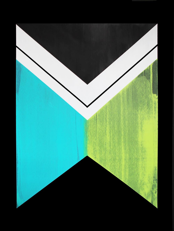 "Crux: Acrylic on paper, 40""x30"". 2015"
