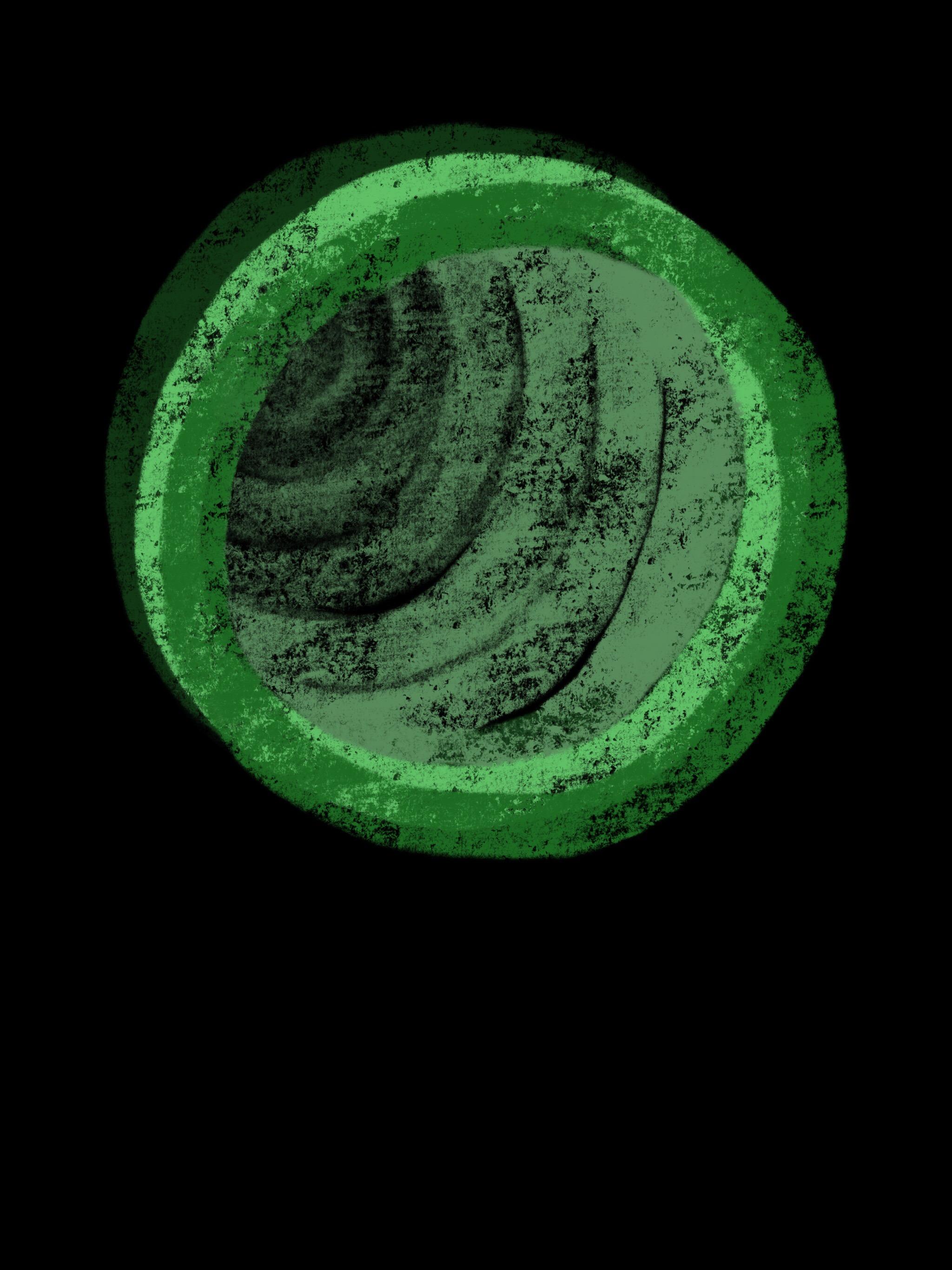 Two Rings (three greens)