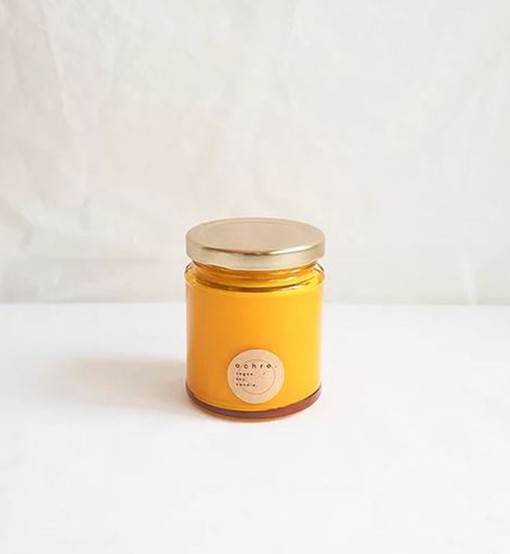 Scented Ochre Candle.