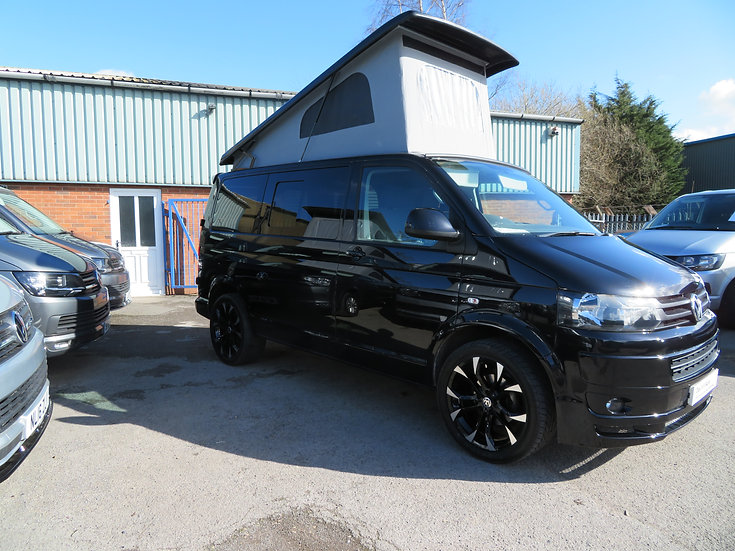 2015(15) 140bhp VW T5 in Deep Pearl Black- Highline, SWB