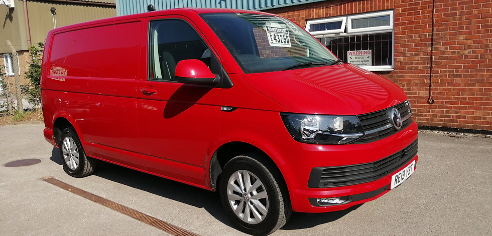 2019(19) VW T6 in Cherry Red - Highline, SWB, DSG