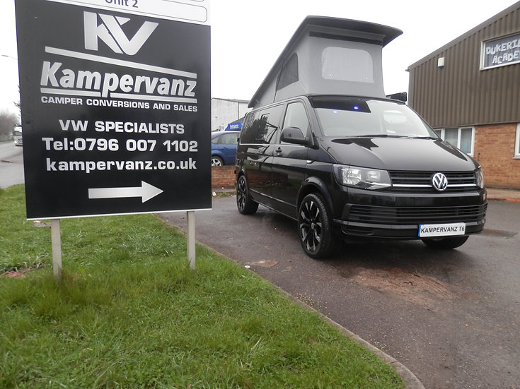 2016 VW T6 in Metallic Black Campervan