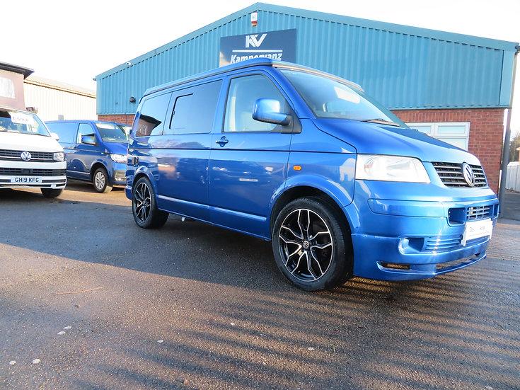 2007 (07) VW SWB T5 RAVEN BLUE Campervan 174bhp LOW MILEAGE 54,000K