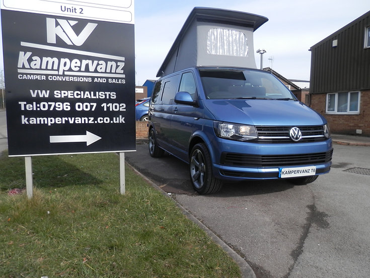 2016(16) VW T6 in Acapulco Blue - Trendline with A/C
