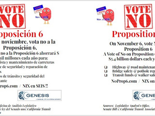 Genesis Voter Guide:  No On Six